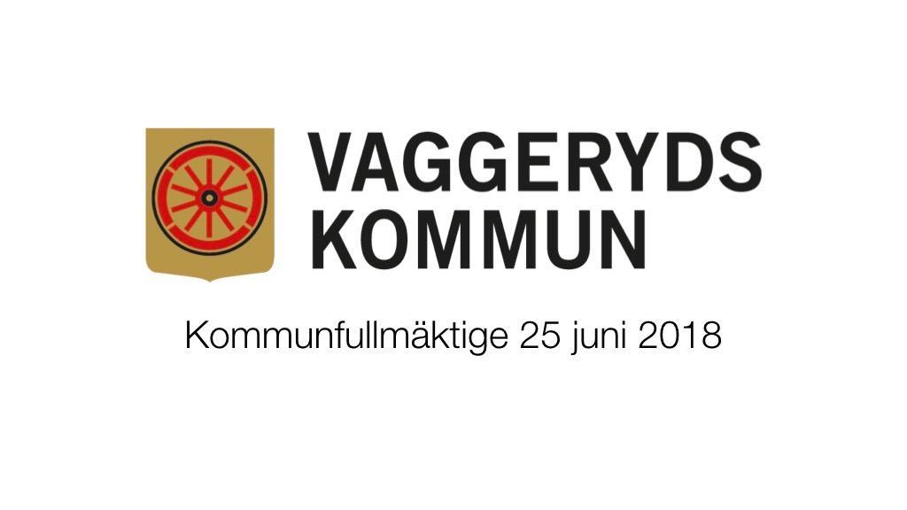 25 Juni 2018 - Kommunfullmäktige