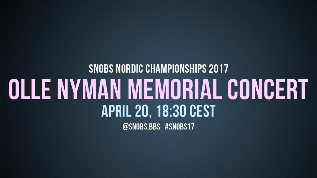 Olle Nyman Memorial Concert 2017