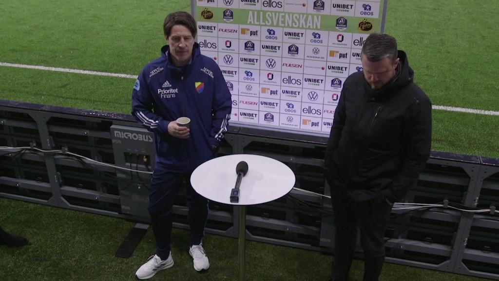 Presskonferensen efter Elfsborg - Djurgården