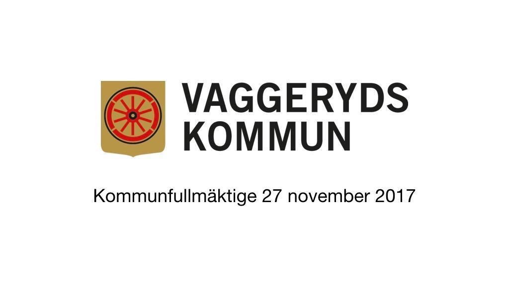 27 november 2017 - Kommunfullmäktige