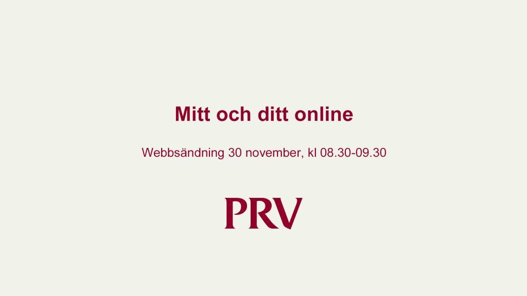 Mitt och ditt online