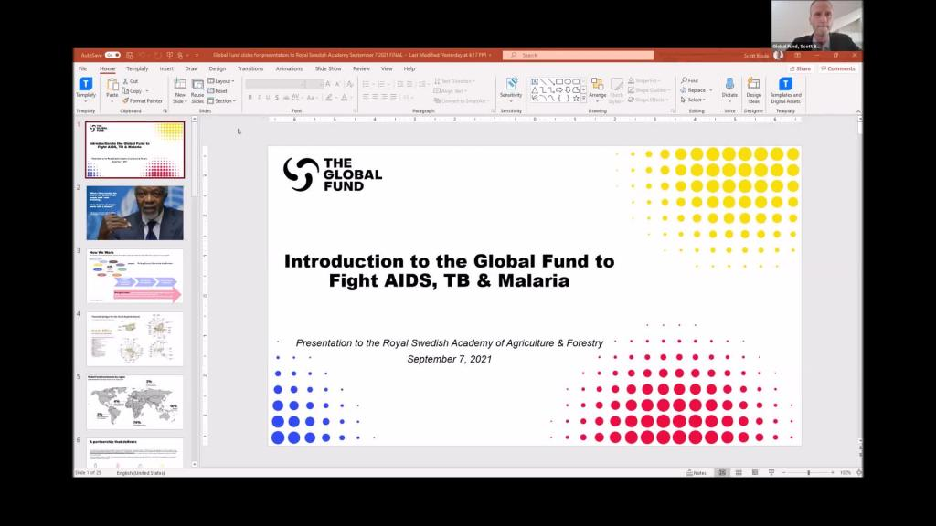 S Boul and S von Wächter - Experience of the Global Fund to fight AIDS, Tuberculosis and Malaria