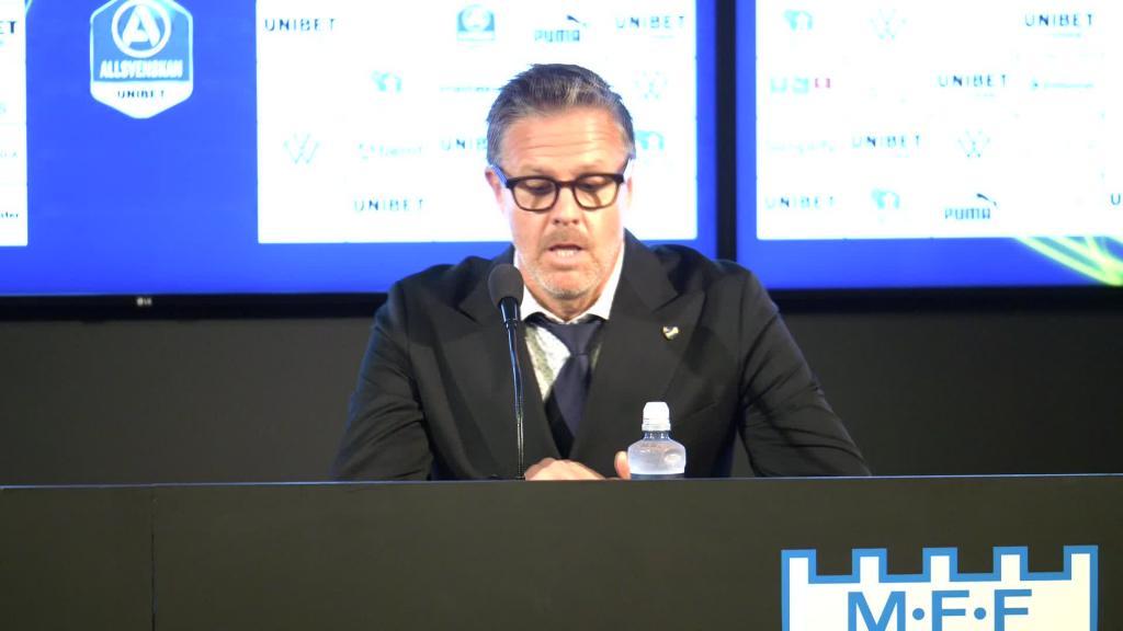 Presskonferens efter MFF – IFK Norrköping