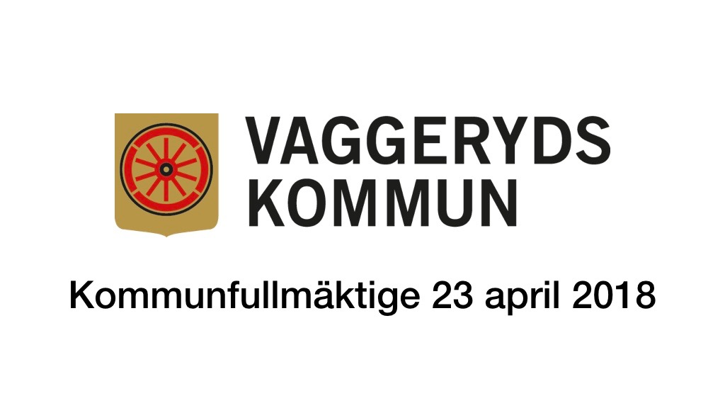 23 april 2018 - Kommunfullmäktige