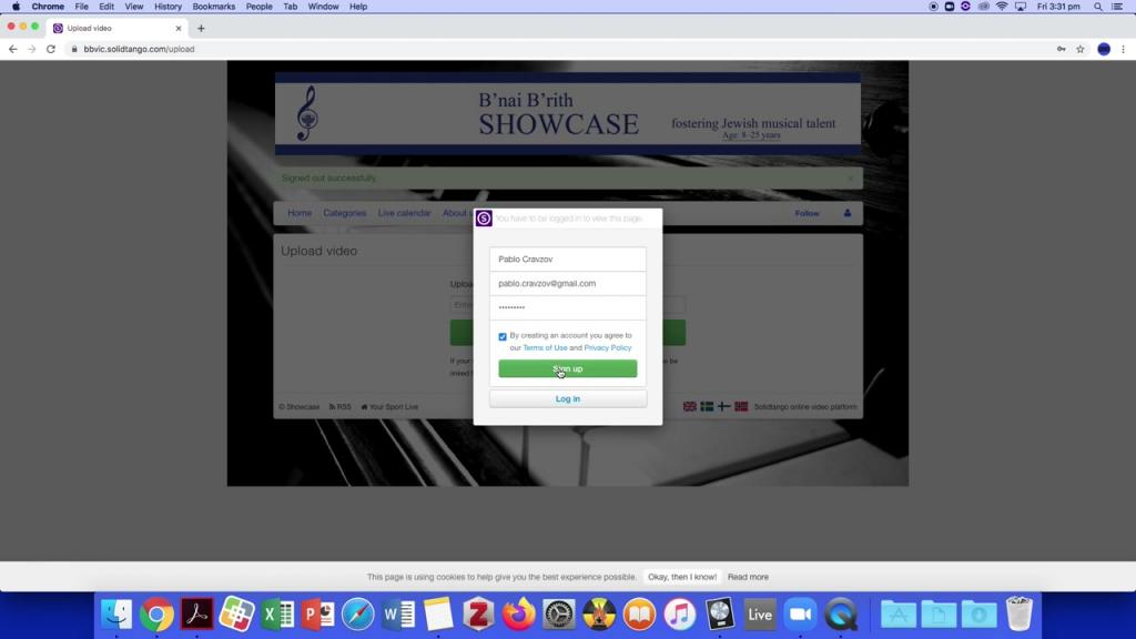 Submit your video to Online Showcase 2020 - Video Tutorial