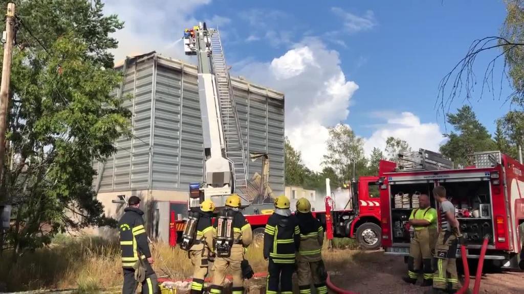 Brand i Överby