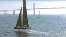 Första videon av amerikanska Cup-båten!
