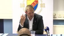 Presskonferensen efter DIF-Gefle 2012
