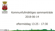Kommunfullmäktiges sammanträde 2018-06-14 eftermiddag