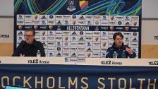 Presskonferensen efter Djurgården - IFK Norrköping