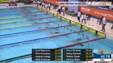 16 100m Fjärilsim Herrar B-Final SM/JSM 25m 2015