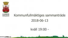 Kommunfullmäktiges sammanträde 2018-06-13 kväll