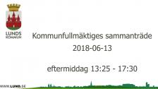 Kommunfullmäktiges sammanträde 2018-06-13 eftermiddag