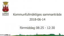 Kommunfullmäktiges sammanträde 2018-06-14 förmiddag