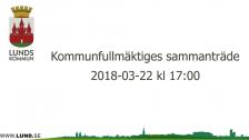 Kommunfullmäktiges sammanträde 2018-03-22