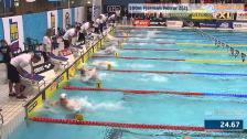 16 100m Fjärilsim Herrar A-Final SM/JSM 25m 2015