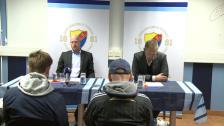 Presskonferensen efter DIF-ÅFF 2012