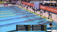 29 100m Ryggsim Damer B-Final SM/JSM 25m 2015