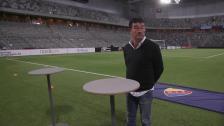 Presskonferens med Europas tränare Rafa Escobar