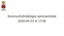 Kommunfullmäktiges sammanträde 2020-04-23