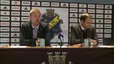 Presskonferensen efter AIK-DIF 2012