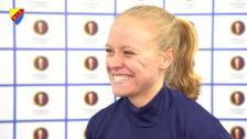 Mia Jalkerud efter derbyvinsten