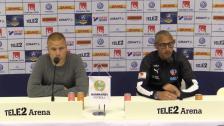 Presskonferensen efter 2-1-segern mot Helsingborg