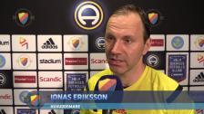 Huvuddomare Jonas Eriksson om spelavbrottet
