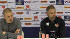 Presskonferensen efter hemmapremiären mot Kalmar FF