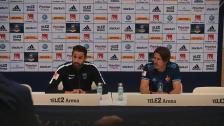 Presskonferensen efter segern mot Sirius