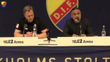 Presskonferensen efter DIF-Trelleborg