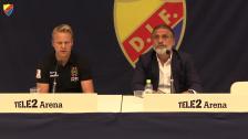 Presskonferensen efter DIF-BP