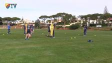 Fotbollstennis från sista träningen