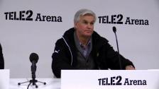 Presskonferensen efter cupmötet med Landskrona
