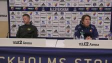 Presskonferensen efter Djurgården Mjällby