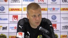 Presskonferensen efter 0-0-mötet med Elfsborg