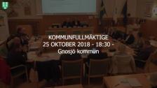25 Oktober 2018 - 18:30 Gnosjö kommun Kommunfullmäktige - 25 Oct 18:23 - 19:51