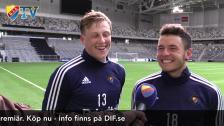 Emil och Kerim hemma efter landslagsspel