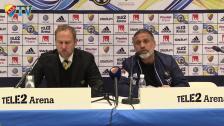 Presskonferensen efter segern mot Elfsborg