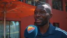 Emmanuel Banda provtränar med Djurgården i Sydafrika