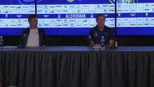 Presskonferensen efter Malmö Djurgården