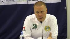 Presskonferensen efter oavgjorda mötet med IFK Göteborg