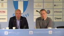 Presskonferensen efter bortaförlusten i Malmö