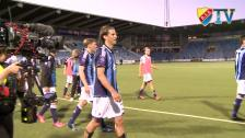 Segerfirandet efter matchen mot IFK Norrköping