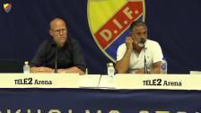 Presskonferensen efter DIF-GIF Sundsvall