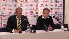 Presskonferensen efter förlusten i Borås