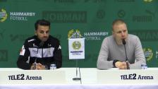 Presskonferensen efter segern mot IFK Göteborg