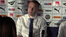 Presskonferensen efter bortasegern mot Örebro SK