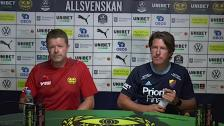 Presskonferens efter seger mot Mjällby