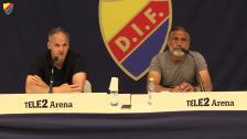 Presskonferensen efter DIF-Dalkurd